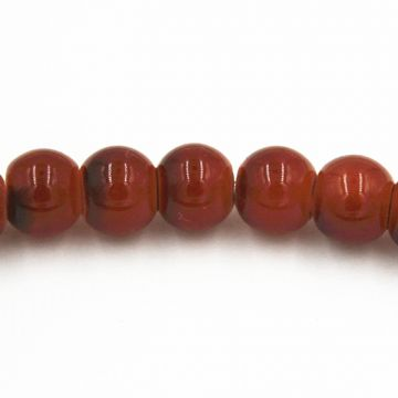216pcs x 4mm Imitation jade brown red glass beads